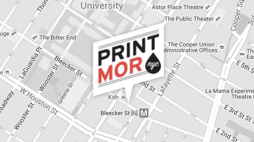 Our Print Shop Location