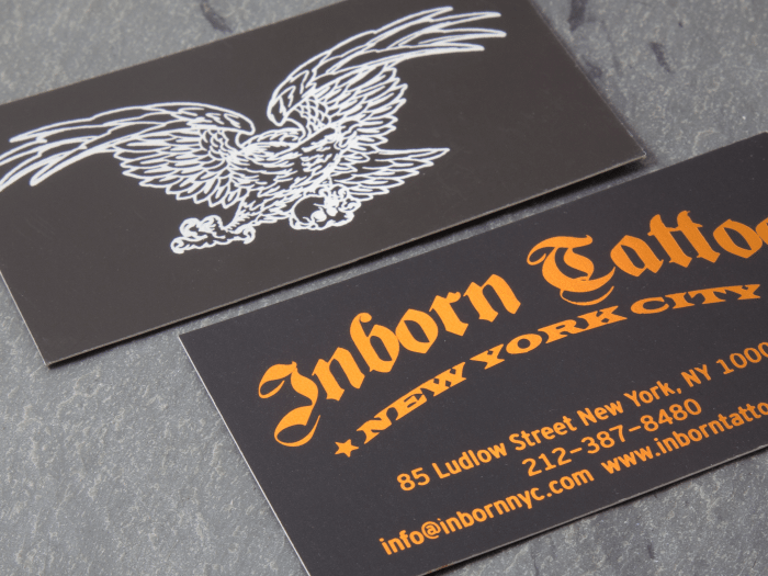foil stamped silk silkwfoil for web_2345 - Foil Stamped Business Cards