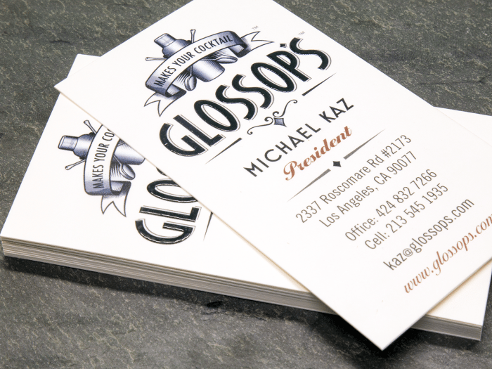 raised ink final - Raised Lettering Business Cards