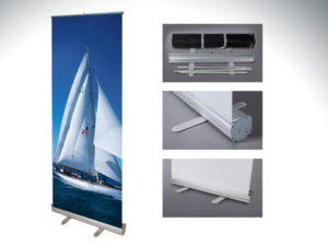 Retractable Banner Stand 33″x80″