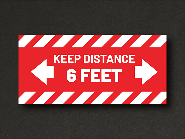 Keep Distance Red 150