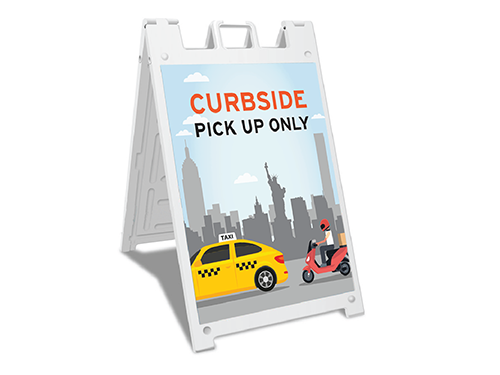 Sign-Curbside Pick up only